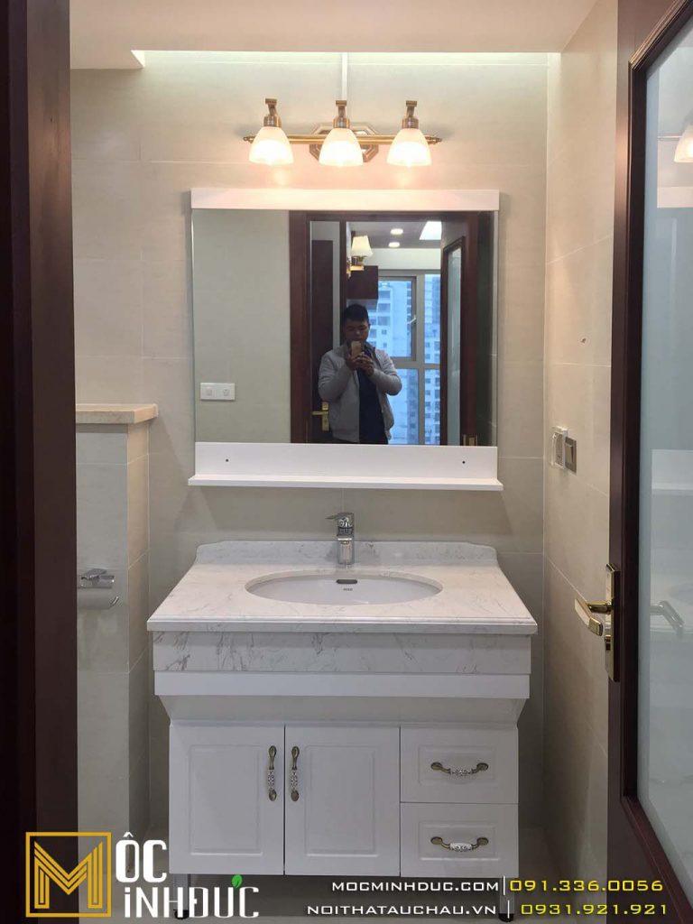 Mẫu tủ lavabo chung cư