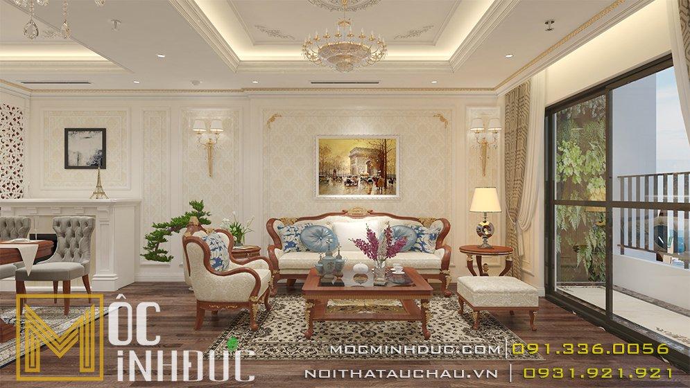Mẫu phòng khách chung cư goldenpalm