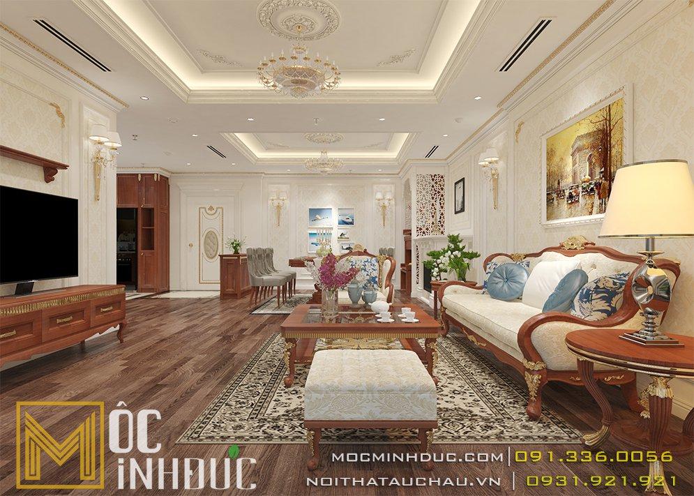 Phòng khách chung cư goldenpalm