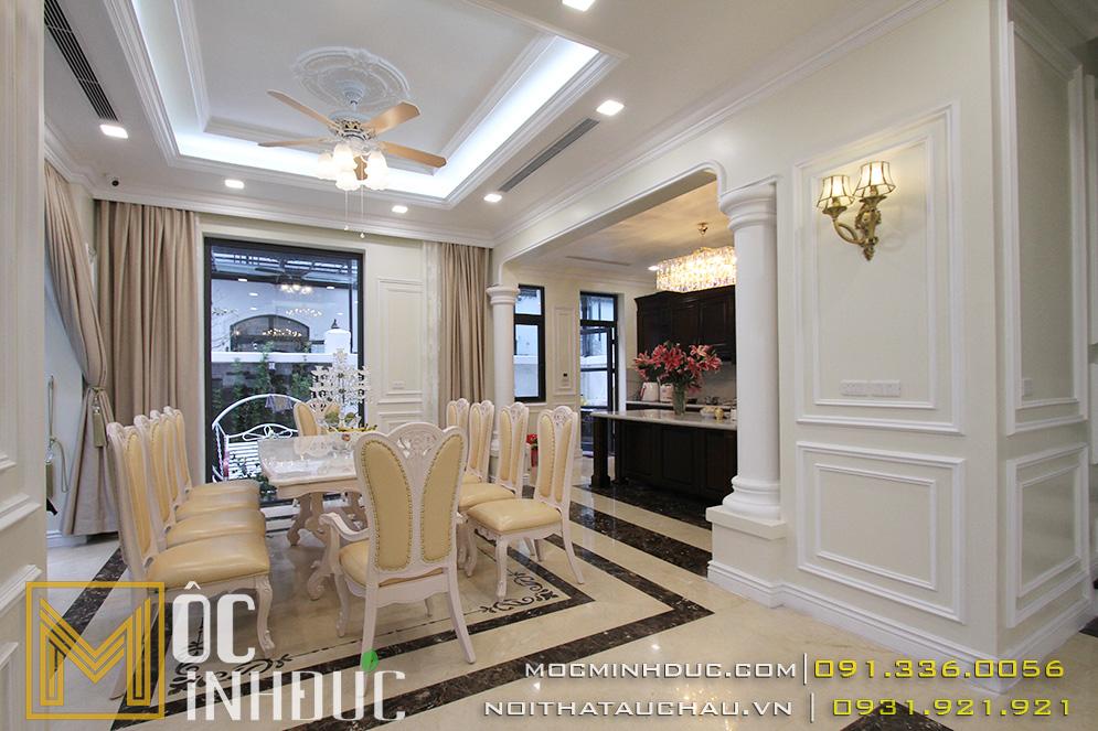 Phòng khách biệt thự Vinhomes Hải Phòng