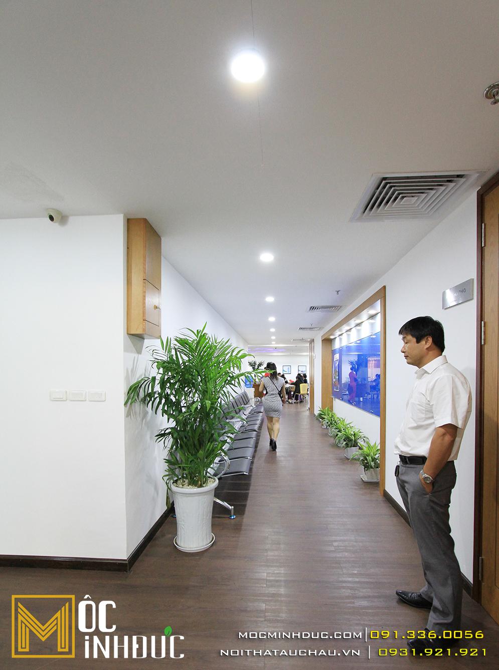 Thi công nội thất văn phòng Visi Hà Nội