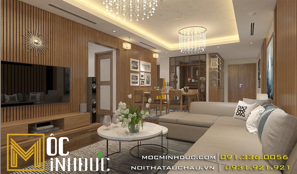 thiết kế nội thất chung cư mandarin
