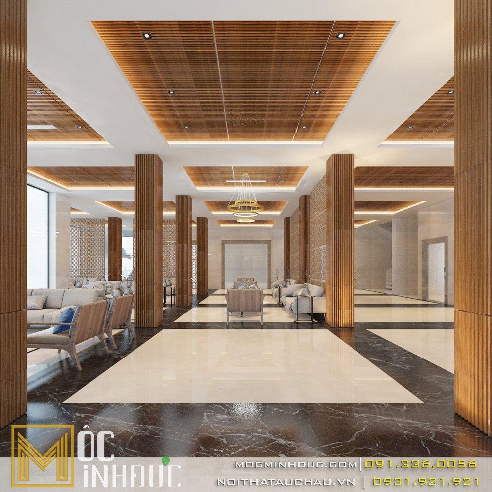 Thiết kế nội thất khách sạn redstar