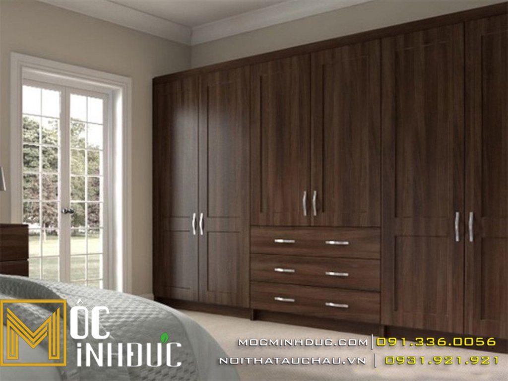 Tủ quần áo gỗ óc cho phòng ngủ