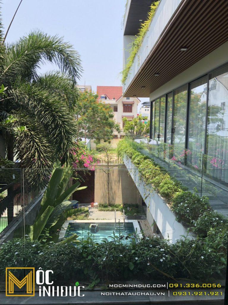 Mẫu biệt thự nhà phố có bể bơi