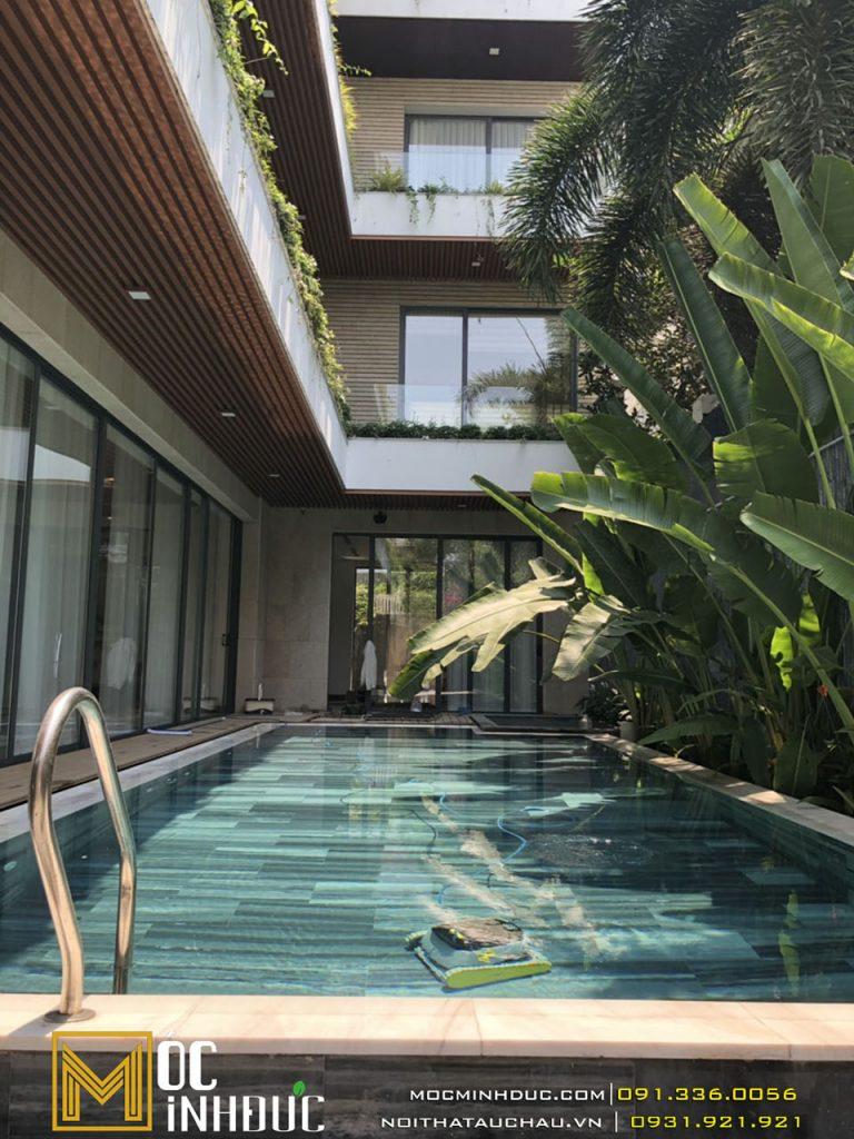 Thi công biệt thự có bể bơi ngoài trời