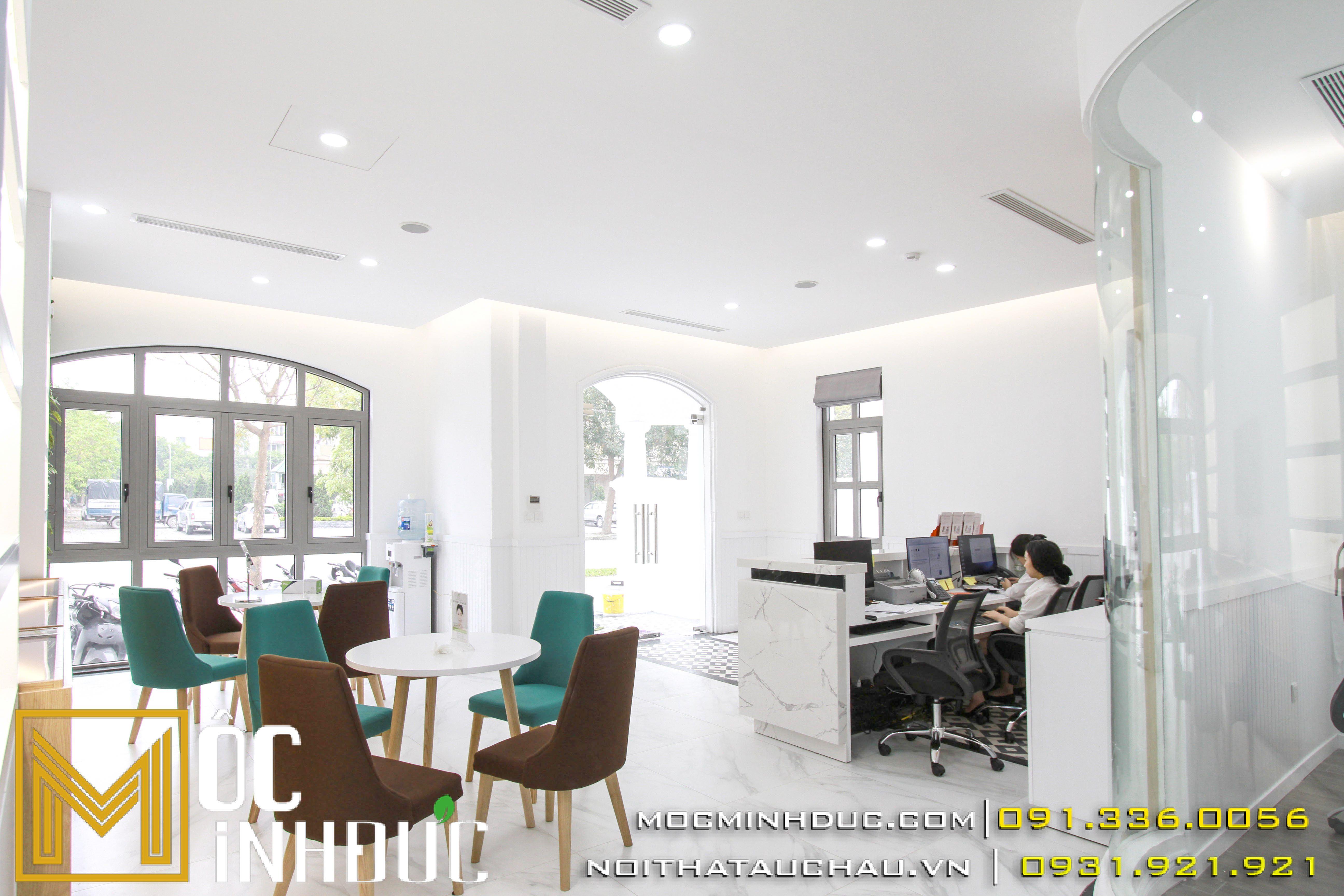 Thiết kế thi công nội thất thẩm mỹ viện tại long biên
