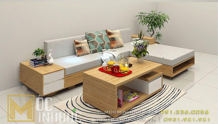 Mẫu sofa gỗ công nghiệp