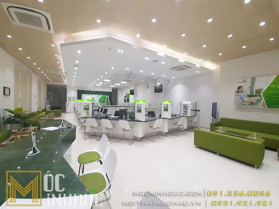 Thi công nội thất ngân hàng Vietcombank Lâm Đồng