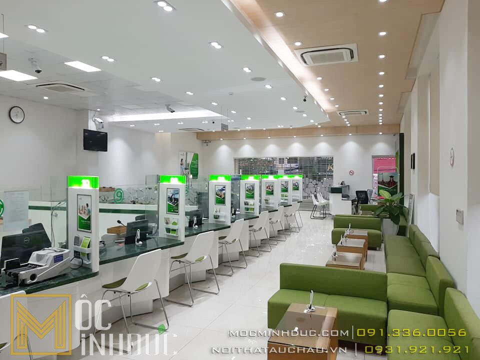 Thi công phòng giao dịch Vietcombank chi nhánh Lâm Đồng