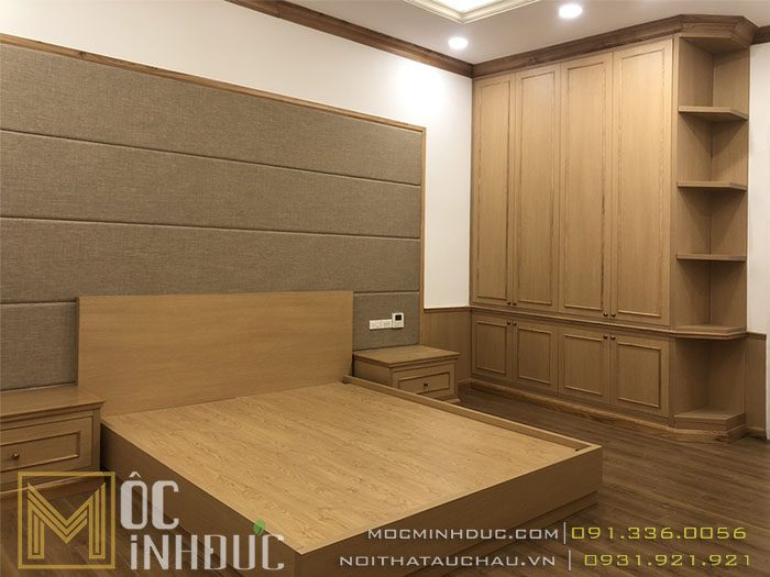 Mẫu giường tủ gỗ tự nhiên đẹp