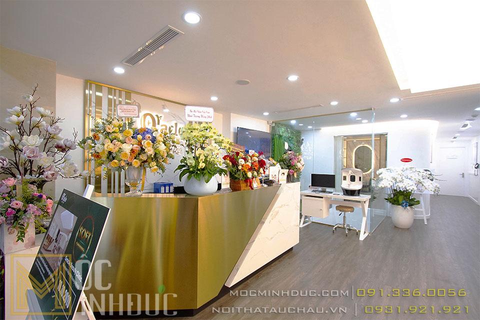 Mẫu thi công nội thất Spa Oracle Beauty Clinic
