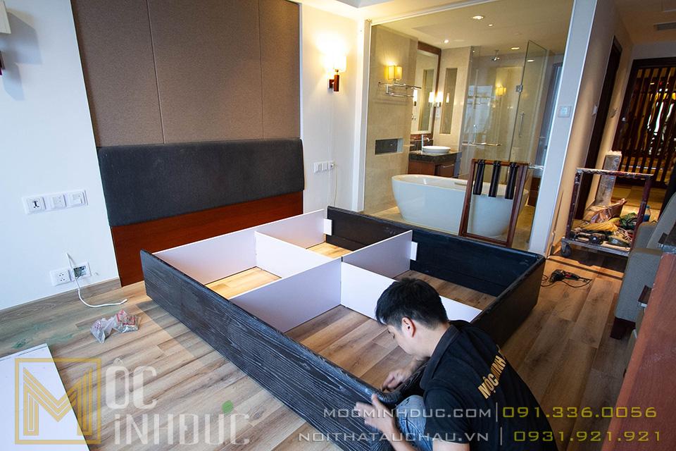 Thi công nội thất phòng khách sạn crowne plaza