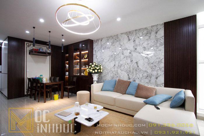 Phòng khách chung cư Nam Thăng Long