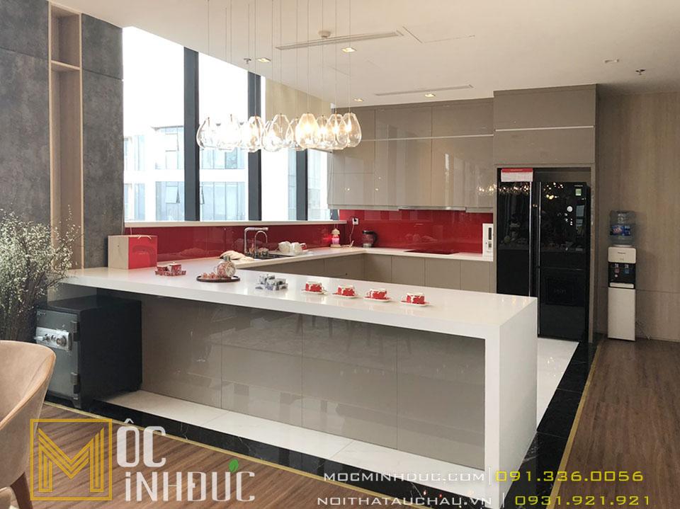 Phòng bếp penthouse hiện đại