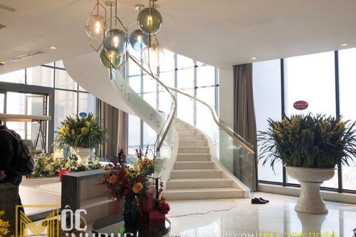 Sảnh cầu thang căn hộ đẹp