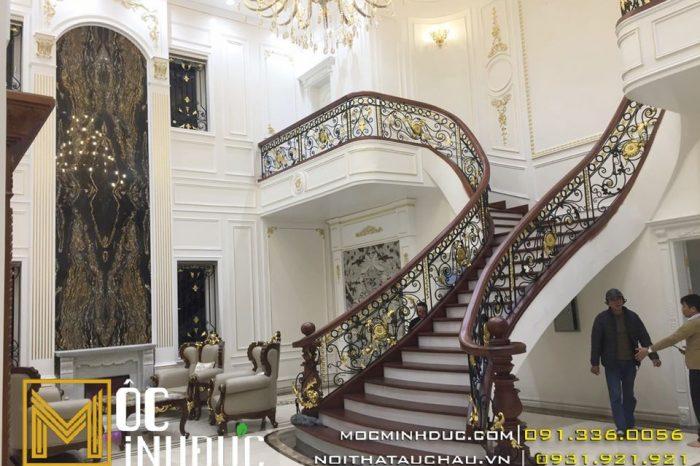 Cầu thang đẹp đẳng cấp biệt thự