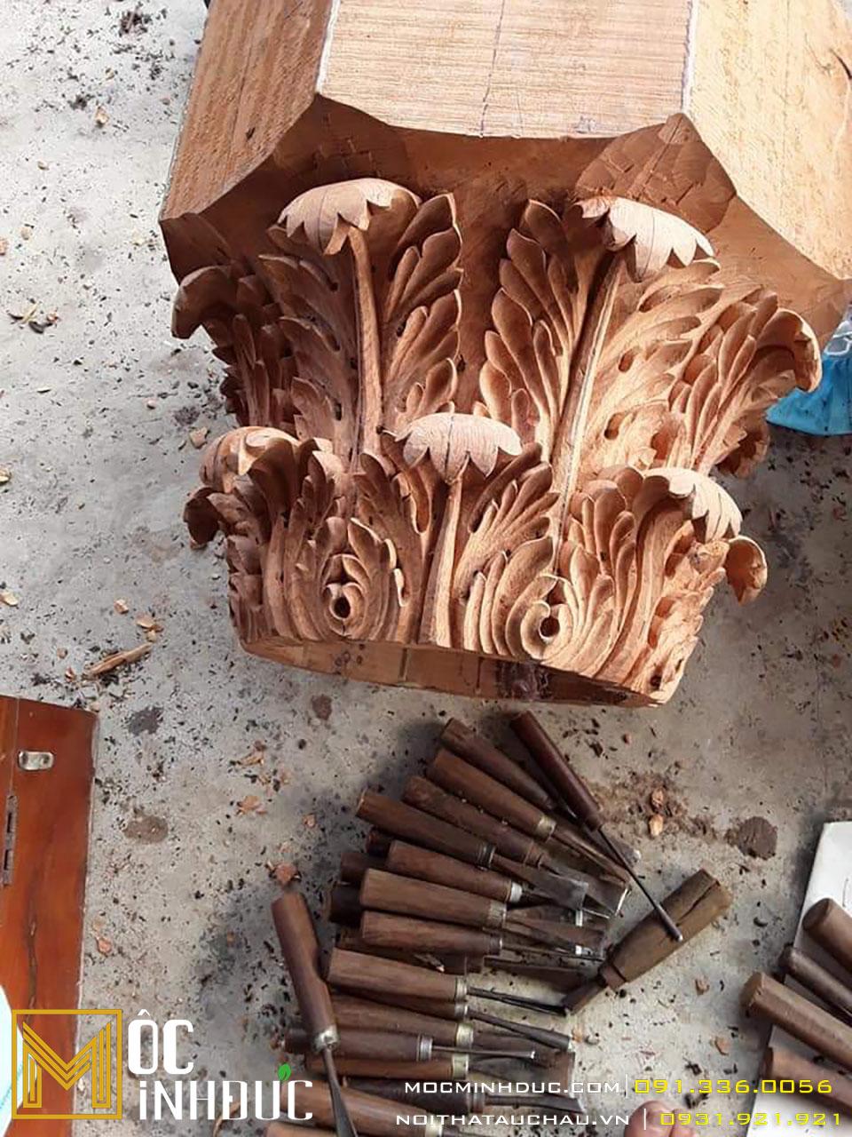 Hoa văn phù điêu gỗ