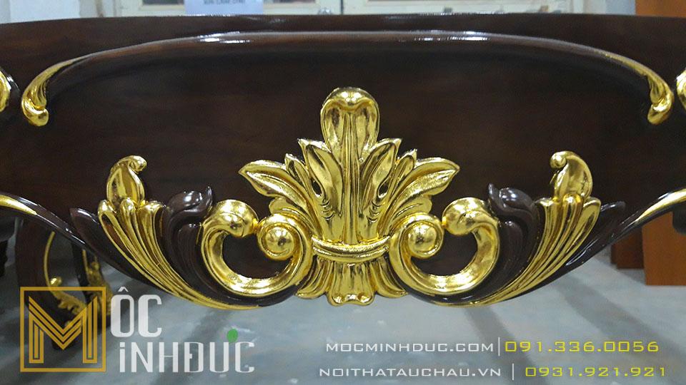 Gia công bộ bàn ghế sofa dát vàng cao cấp sang trọng