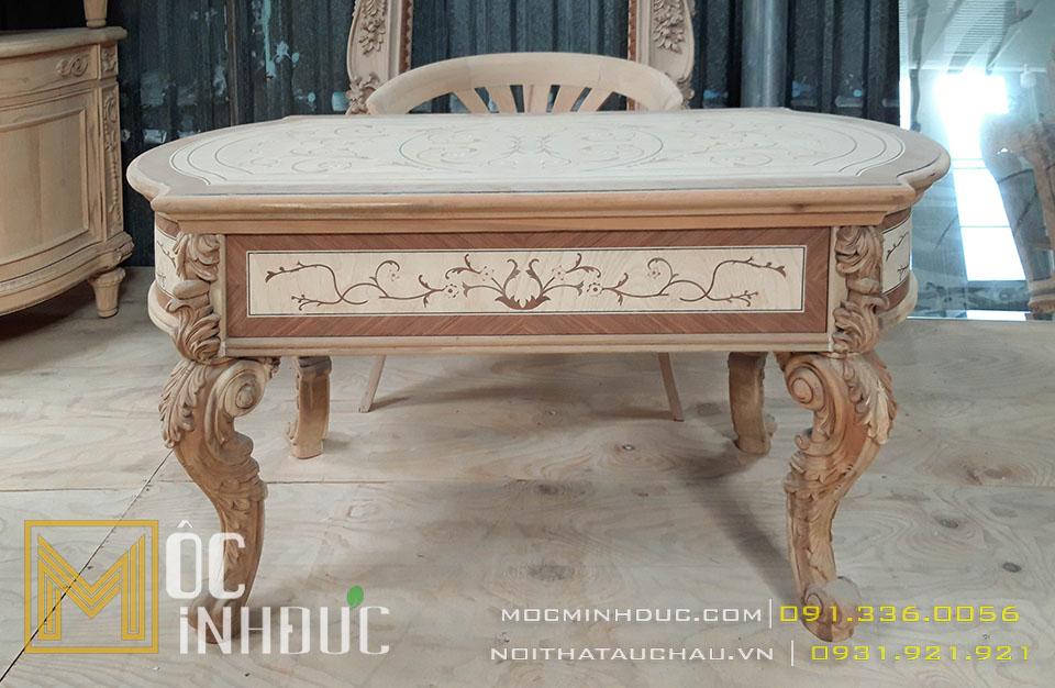 Hình ảnh sản xuất phôi bàn ghế gỗ tự nhiên tân cổ điển đẹp