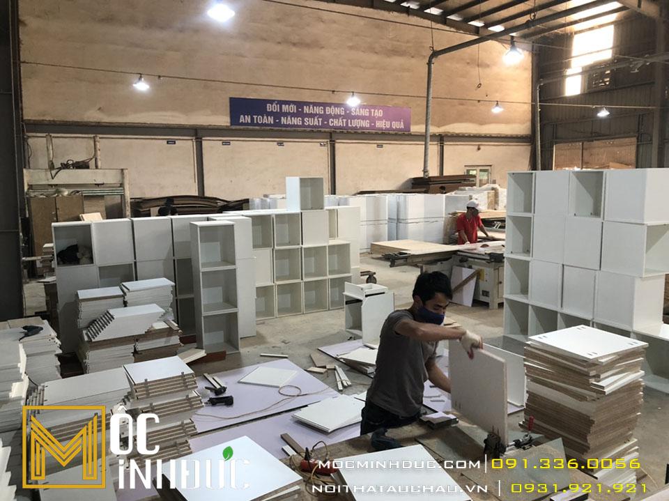 Gia công nội thất văn phòng gỗ công nghiệp