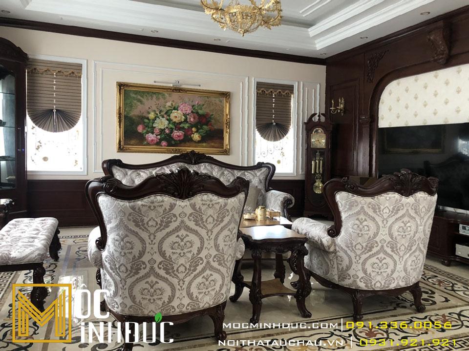 Mẫu bàn ghế tân cổ điển cao cấp
