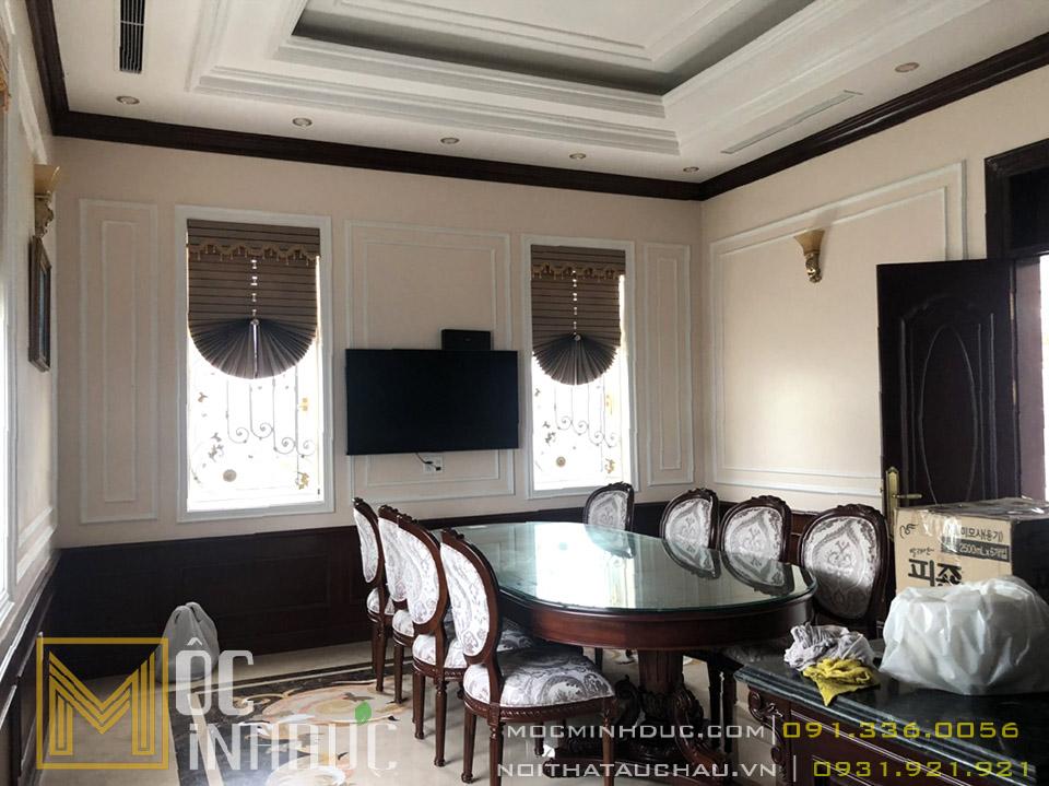 Bộ bàn ghế ăn tân cổ điển đẹp cho phòng ăn biệt thự