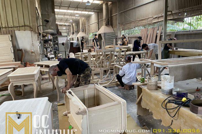 Sản xuất bàn ghế nội thất gỗ sang trọng