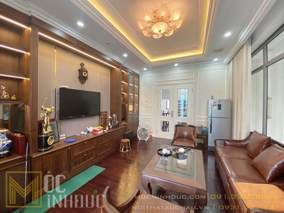 Phòng khách biệt thự vinhomes Long biên