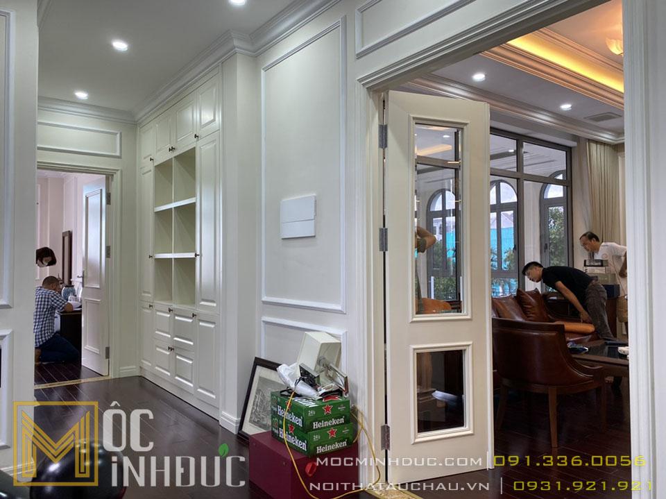 Thi công thiết kế nội thất nhà biệt thự tân cổ điển