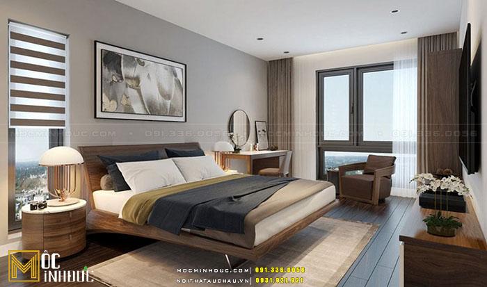 Giường ngủ gỗ óc chó đẹp