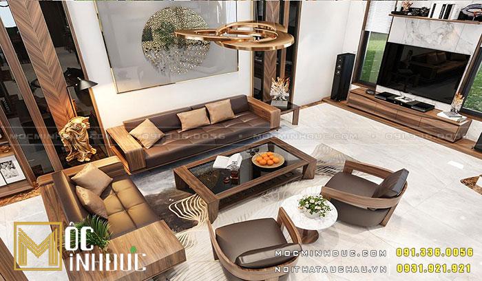 Hoàn thiện sofa gỗ óc chó