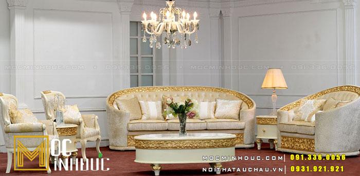 Mẫu ghế Sofa mạ vàng