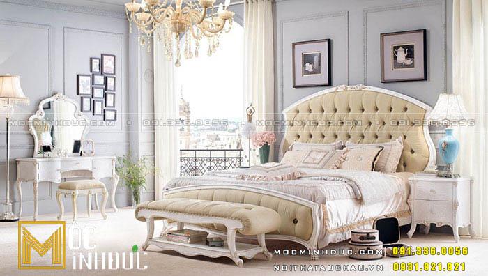 Mẫu giường ngủ cổ điển Châu Âu 03