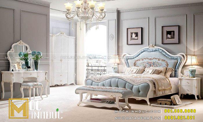 Mẫu giường gỗ tự nhiên Châu Âu 04