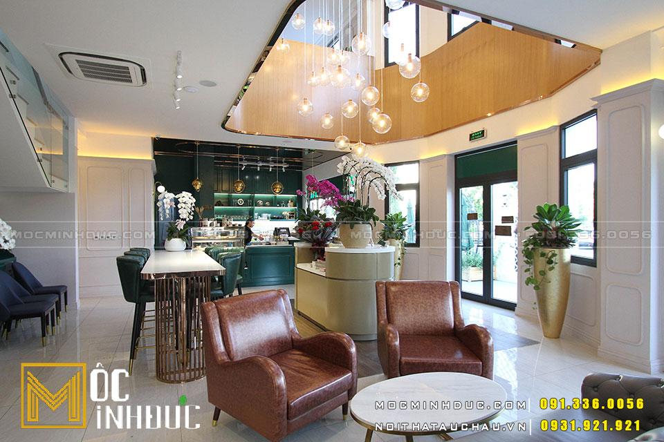 Mẫu quán cafe Vinhome đẹp