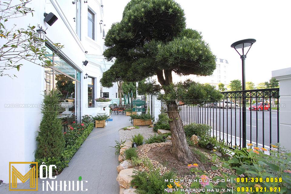 Thi công sân vườn quán Cà phê