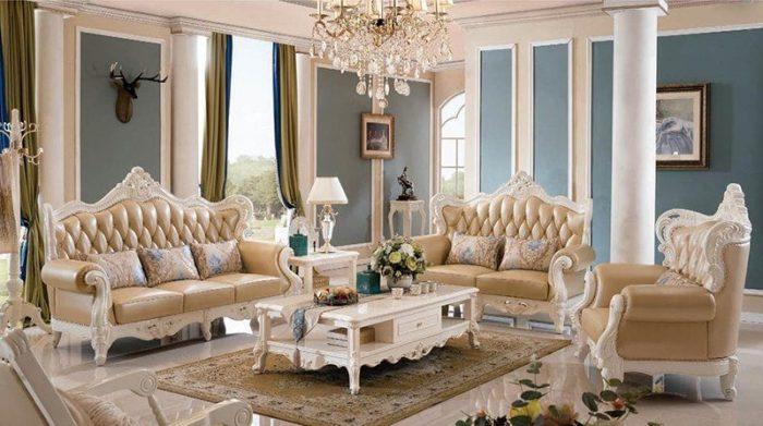 Bộ bàn ghế sofa phòng khách tân cổ điển