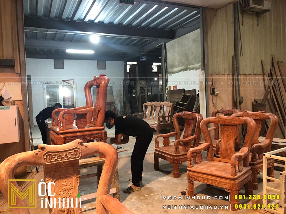 Sản xuất bàn ghế nội thất gỗ Hương