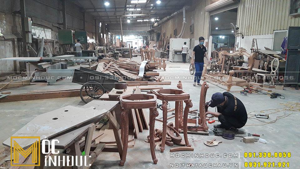 Sản xuất bàn ghế nội thất gỗ