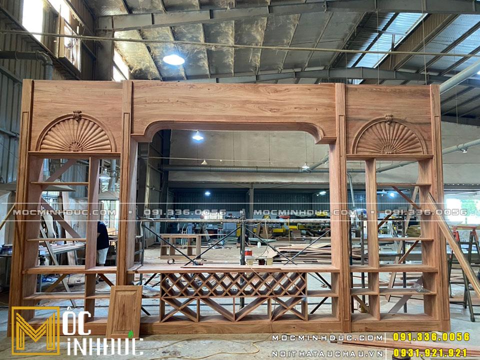 Sản xuất nội thất tủ rượu gỗ gõ đỏ