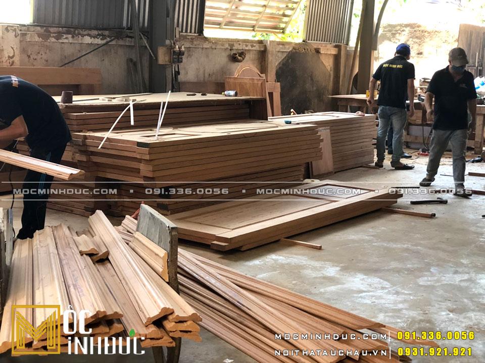Xưởng gỗ tự nhiên gõ đỏ Hà Nội