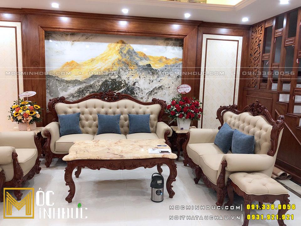 Bàn ghế Sofa phong cách tân cổ điển