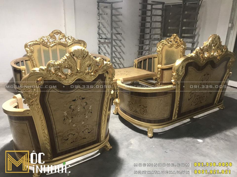 Bộ bàn ghế Sofa mạ vàng
