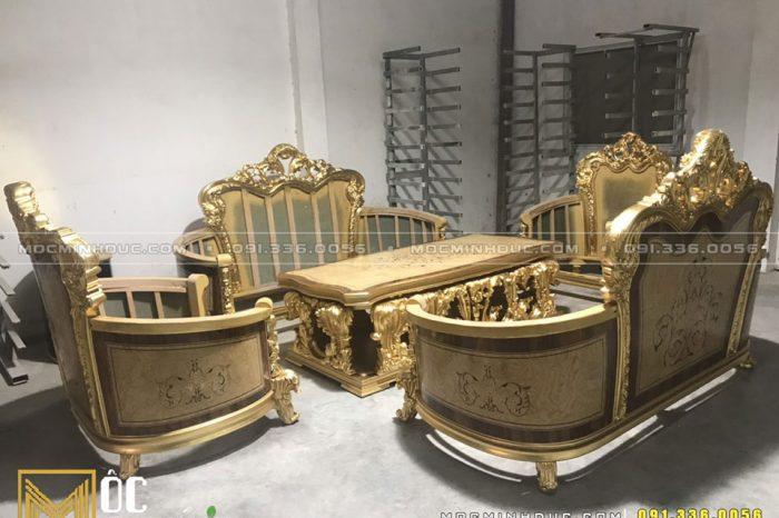 Bộ Sofa mạ vàng tân cổ