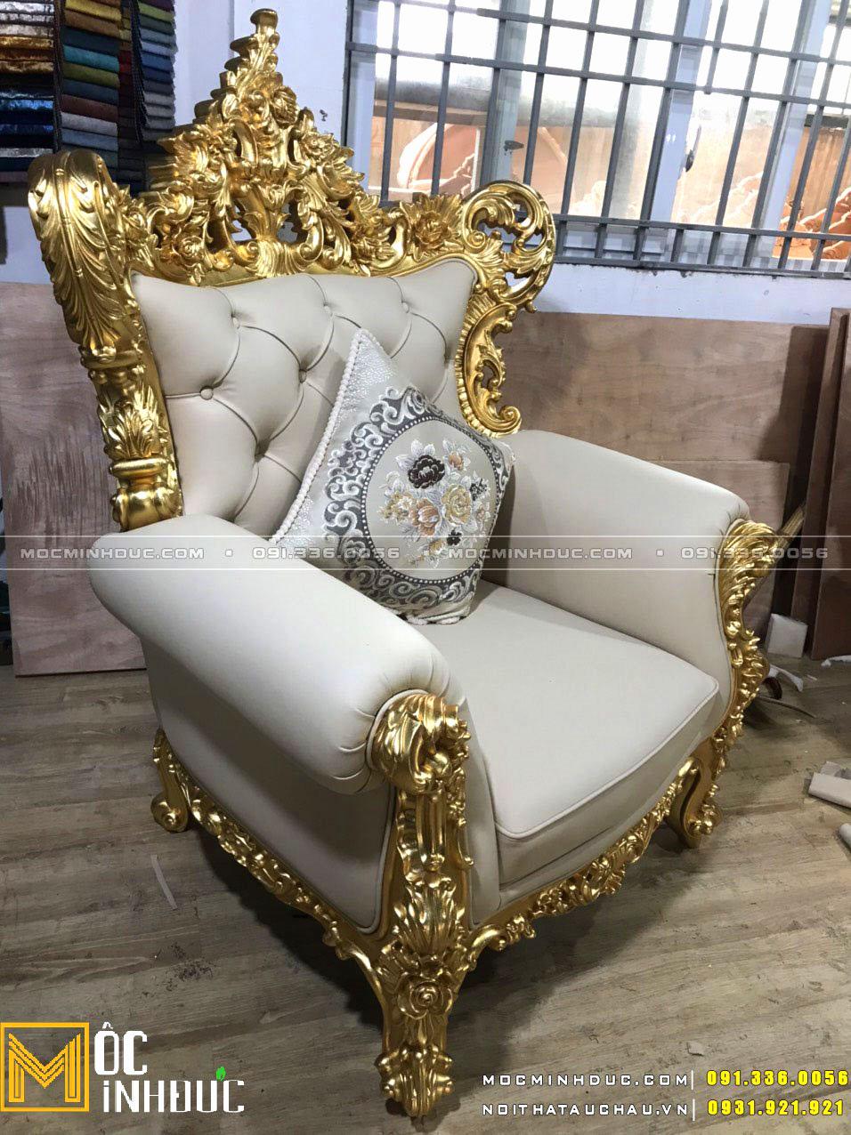 Sản xuất Sofa dát vàng tân cổ điển