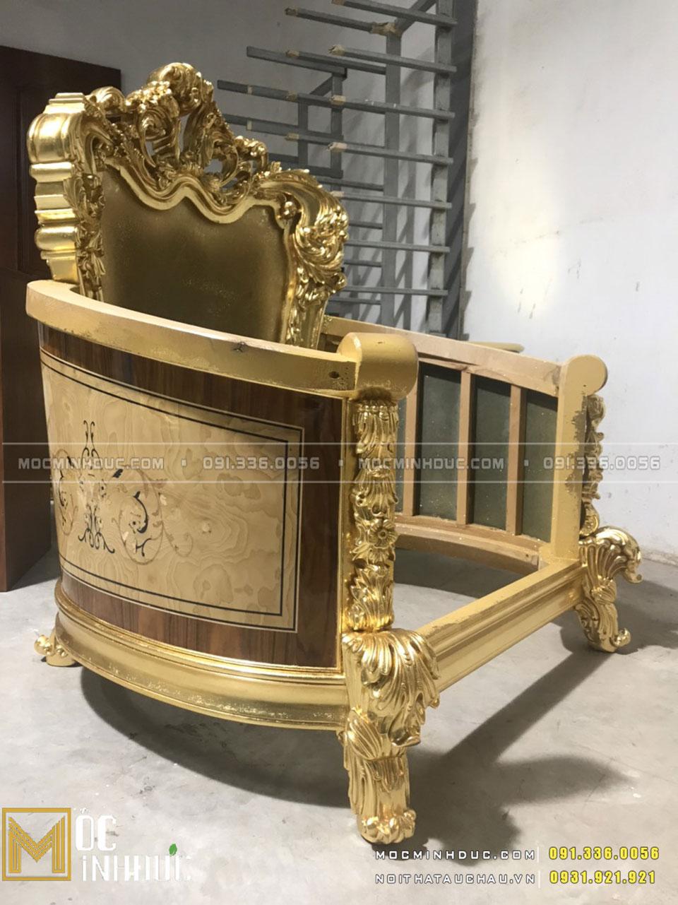 Xưởng sản xuất nội thất dát vàng