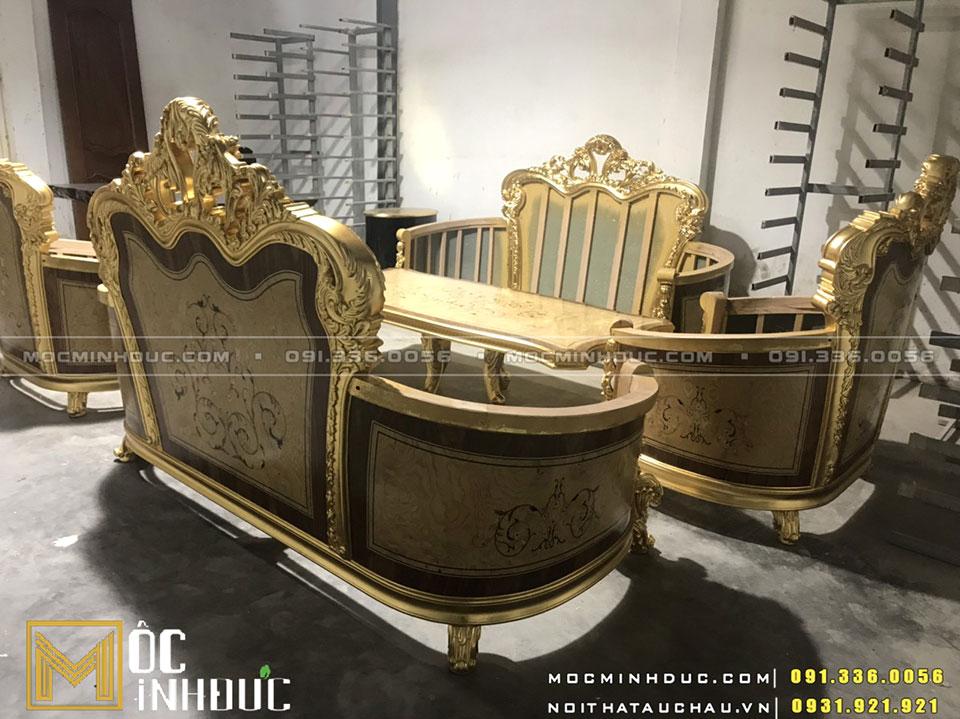 Xưởng sản xuất Sofa dát vàng Hà Nội