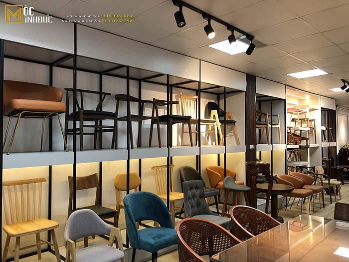 Hình ảnh những mẫu ghế tại showroom Minh đức