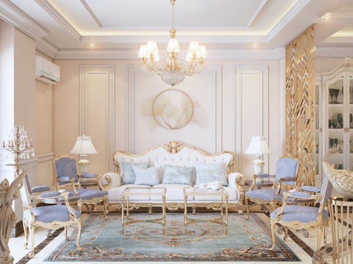 mẫu bàn ghế gỗ tân cổ điển phòng khách